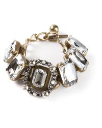 Lanvin - Natural Chain Crystal Bracelet - Lyst