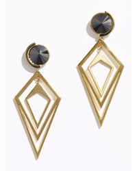 Sarah Magid | Metallic Pointilist Orbital Earrings, Hematite | Lyst