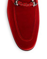 Ferragamo - Red Lord Velvet Loafers - Lyst