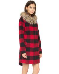 BB Dakota - Black Jaslene Buffalo Plaid Coat - Red - Lyst