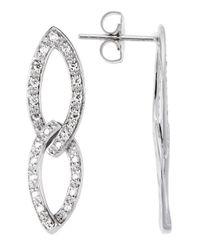 Charriol | 18K White Gold 0.43Tcw Dangle Earrings | Lyst