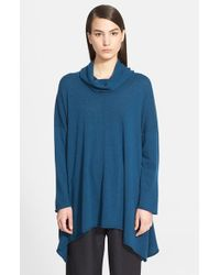 Eskandar | Blue Cowl Neck Cashmere Sweater | Lyst