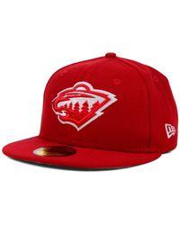 KTZ | Red Minnesota Wild C-dub 59fifty Cap for Men | Lyst