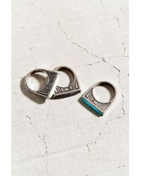 Urban Outfitters - Metallic Sea + Stars Ring Set - Lyst