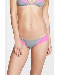 Rip Curl | Gray 'neon Beach' Hipster Bikini Bottoms | Lyst