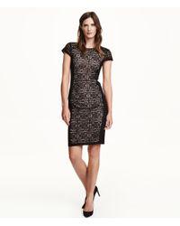 H&M | Black Lace Dress | Lyst