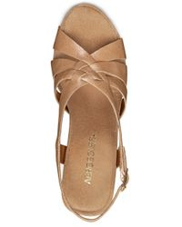 Aerosoles | Natural Guavaplush Cork Wedge Sandals | Lyst