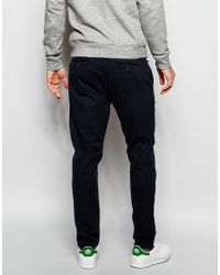 SELECTED - Blue Elected Homme Jersey Formal Joggers for Men - Lyst