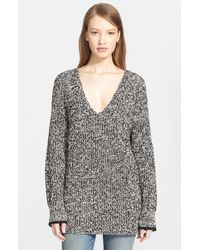 Rag & Bone - Black 'karen' V-neck Sweater - Lyst