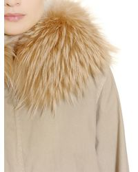 Mr & Mrs Italy | Natural Cotton Canvas Parka With Murmansky Fur | Lyst
