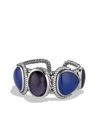 David Yurman - Metallic Ultramarine Cuff with Black Orchid Lapis Lazuli and Gray Sapphires - Lyst