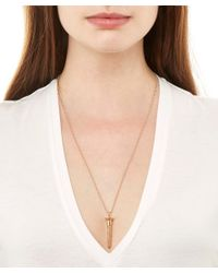 True Rocks - Metallic Large Rose Gold-plated Screw Necklace - Lyst