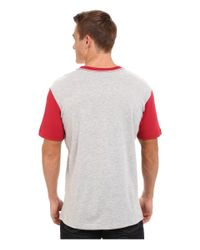 RVCA | Red Big Baseball Tee for Men | Lyst