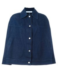 See By Chloé | Blue Denim Cape Jacket | Lyst
