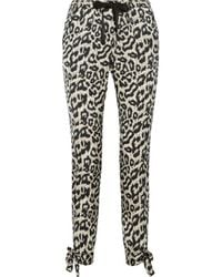 Sea - Multicolor Leopard-Print Stretch-Silk Tapered Pants - Lyst