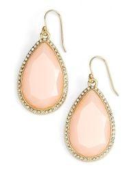 Kate Spade | Pink Day Tripper Pavé Crystal Teardrop Earrings | Lyst