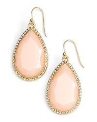 kate spade new york | Pink Day Tripper Pavé Crystal Teardrop Earrings | Lyst