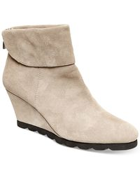 Steven by Steve Madden | Brown Berkli Wedge Booties | Lyst