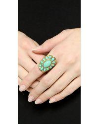 Aurelie Bidermann - Blue Turquoise Ring - Lyst