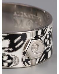Alexander McQueen - White Skull Bangle - Lyst
