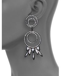 DANNIJO | Black Mildred Chandelier Earrings | Lyst