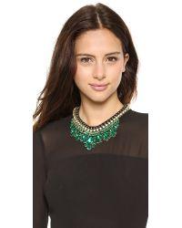 Adia Kibur - Green Crystal Rope Necklace - Emerald - Lyst