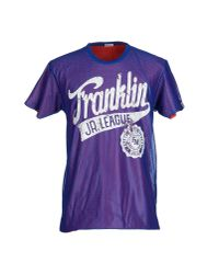 Franklin & Marshall - Purple T-shirt for Men - Lyst
