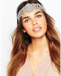 ASOS - Metallic Occasion Link Beaded Headband - Lyst