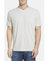 Tommy Bahama - Gray 'pebble Shore' Original Fit V-neck T-shirt for Men - Lyst