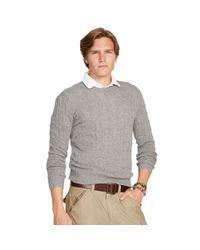 Polo Ralph Lauren | Gray Cable-knit Cashmere Sweater for Men | Lyst