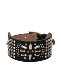 Alexander McQueen | Black Studded Leather Cuff for Men | Lyst