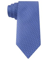 Michael Kors | Blue Michael Honeycomb Dot Slim Tie for Men | Lyst