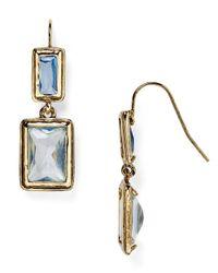 Ralph Lauren | Blue Lauren Baguette Bezel Set Drop Earrings | Lyst