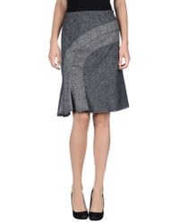 Anna Molinari - Gray Knee Length Skirt - Lyst