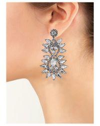 Kenneth Jay Lane | Metallic Crystal Spike Clip Earring | Lyst
