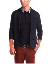 BOSS Orange Blue Cotton Sweatshirt Jacket 'wictoro' for men