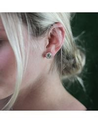 Dana Rebecca - Metallic Anna Beth Green Quartz Stud Earrings - Lyst
