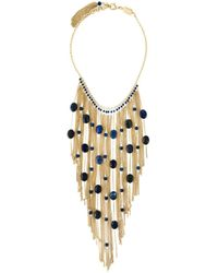 Rosantica | Blue Bead And Chain Cascade Necklace | Lyst