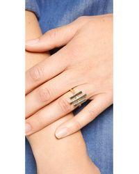 Pamela Love - Metallic Axis Ring - Brass - Lyst
