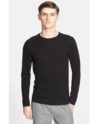 Helmut Lang | Black Crewneck Sweater for Men | Lyst