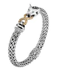 John Hardy | Metallic Classic Chain Silver & 18k Medium Macan Bracelet | Lyst