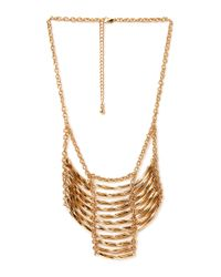 Forever 21 - Metallic Standout Curved Bib Necklace - Lyst