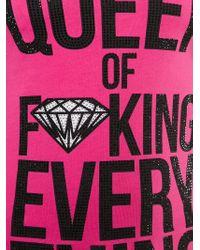 Philipp Plein | Pink 'queen' Tank Top | Lyst
