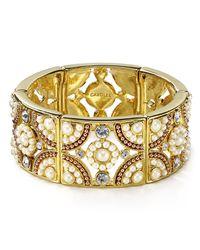 Carolee   Metallic Casablanca Cachet Stretch Bracelet   Lyst