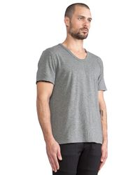 T By Alexander Wang   Gray Classic Low Neck Tee for Men   Lyst