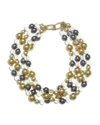 Kenneth Jay Lane | Multicolor 4 Row Bead Necklace | Lyst