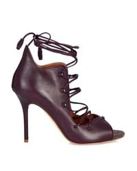 Malone Souliers - Purple Savannah Lace-Up Leather Sandals - Lyst
