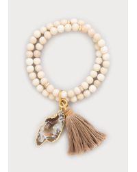 Bebe | White Shell Bead Stretch Bracelet | Lyst