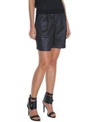 Tibi - Black Quilted Lurex Jacquard Short - Lyst