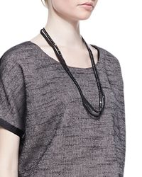 Eileen Fisher | Black Sequined Rivulet Necklace | Lyst